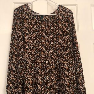 WILD FABLE - black floral dress